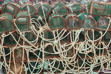 Traps for octopuses stacked