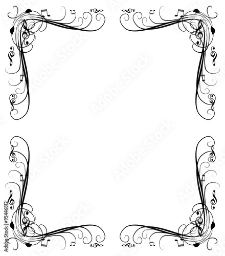 music notes frame background - Music Note Picture Frame