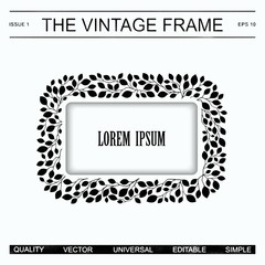 The vintage frame template