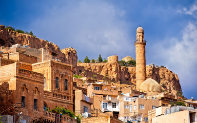 Old town of Mardin, small town near Diyarbakir on syrian border