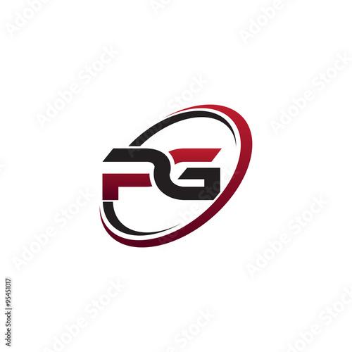 Modern Initial Logo Circle Pg Stock Image And Royalty Free Vector