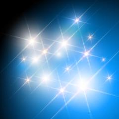 Vector glittering stars shine