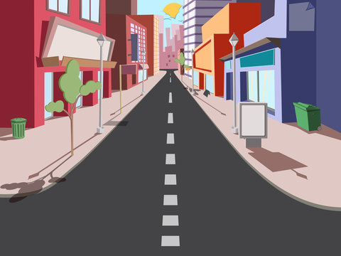 Morning cityscape comics