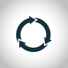 Waste processing simple icon