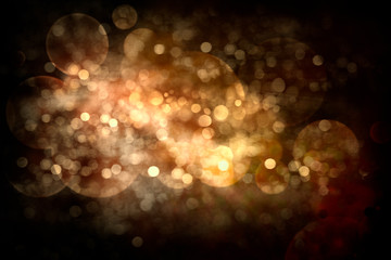 Abstract Festive Background. Glowing Holiday Bokeh