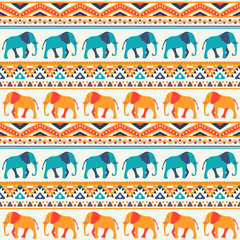Animal seamless pattern of elephant