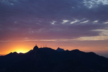 Christ the Redeemer Sunset View from the Sugar Loaf Mountain