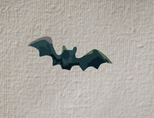 painting black bat