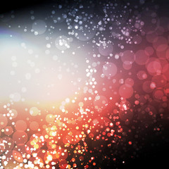 Sparkling Cover Design Template with Abstract, Blurred Background forChristmas, New Year or Other Designs