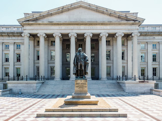 The Treasury Department building, USA