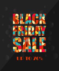 Black Friday Sale poster in retro design