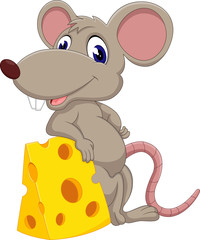 Cute mouse cartoon of illustration