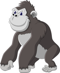 Funny gorilla cartoon of illustration