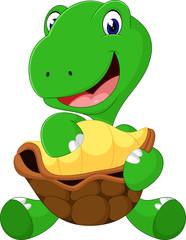 Cute cartoon turtle of illustration