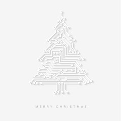 Vector christmas tree as digital electronic circuit
