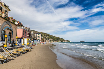 Alassio With Colorful Buildings-Alassio,Italy