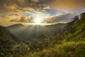Sunset at Phu Soi Dao National Park, Uttaradit, Thailand