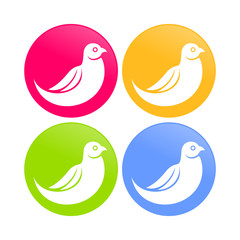 Abstract Bird Circle Icons
