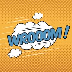 WROOOM! Wording Sound Effect for Comic Speech Bubble