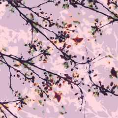 japanese flower water color illustration print