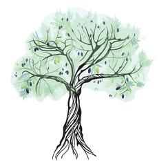 Artistic olive tree