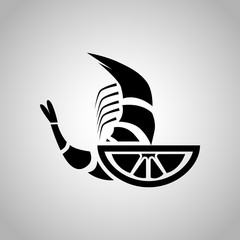Shrimp with lemon icon