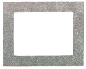 grey stone frame isolated on a white background