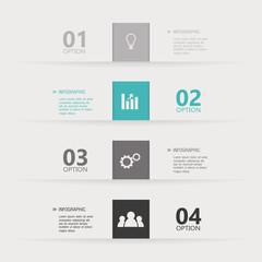 Brochures Infographic Vector