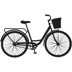 silhouette of a bike on a white background