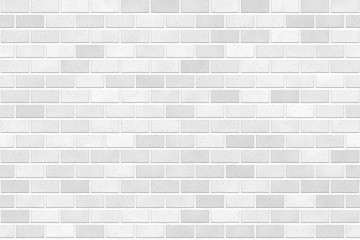 Seamless brick wall texture background image. Realistic regular pattern image. White gray light color.