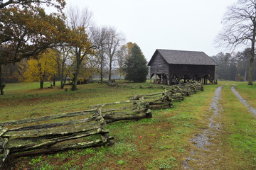 Barn on the Living History Farm in Kings Mountain State Park South Carolina