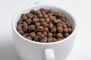Chocolate cereals in a cup