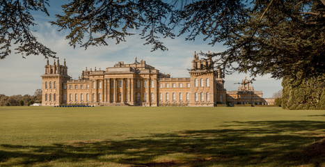 The rear lawn at Blenheim Palace