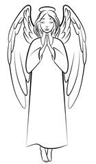 Contour praying angel