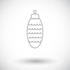Christmas cone flat icon
