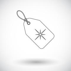 Christmas tag flat icon