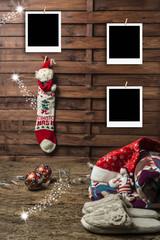 Christmas photo frames postcards