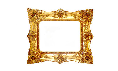 Stock Photo:Old picture frame isolated on white background.