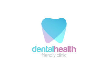 Dent Logo design vector. Dental clinic Logotype concept