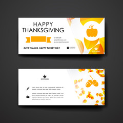 Set of modern design banner template in autumn style