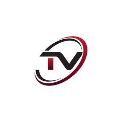 Modern Initial Logo Circle TV