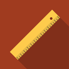Vector illustration. Icon square shape Icons of ruler in flat design
