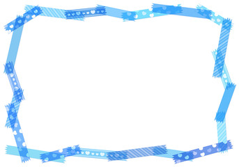 青・水色系マスキングテープ コピースペース