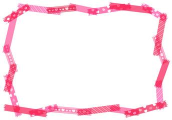 赤・ピンク系マスキングテープ コピースペース