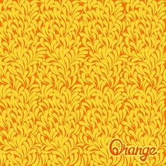 Abstract stylized texture of citrus fruits. Orange pattern. Vector art template