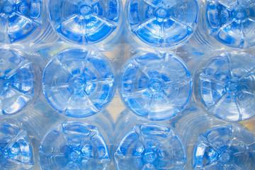 bottom of plastic water bottles
