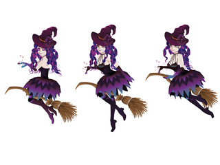 Dark Witch with Broom