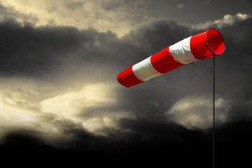 Fotobehang Onweer Sturmwarnung