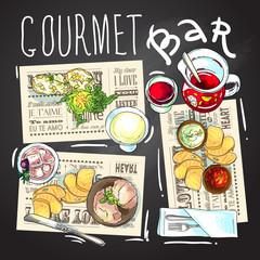 Gourmet bar illustration