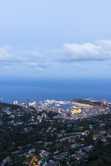 View on  Monaco in the evening